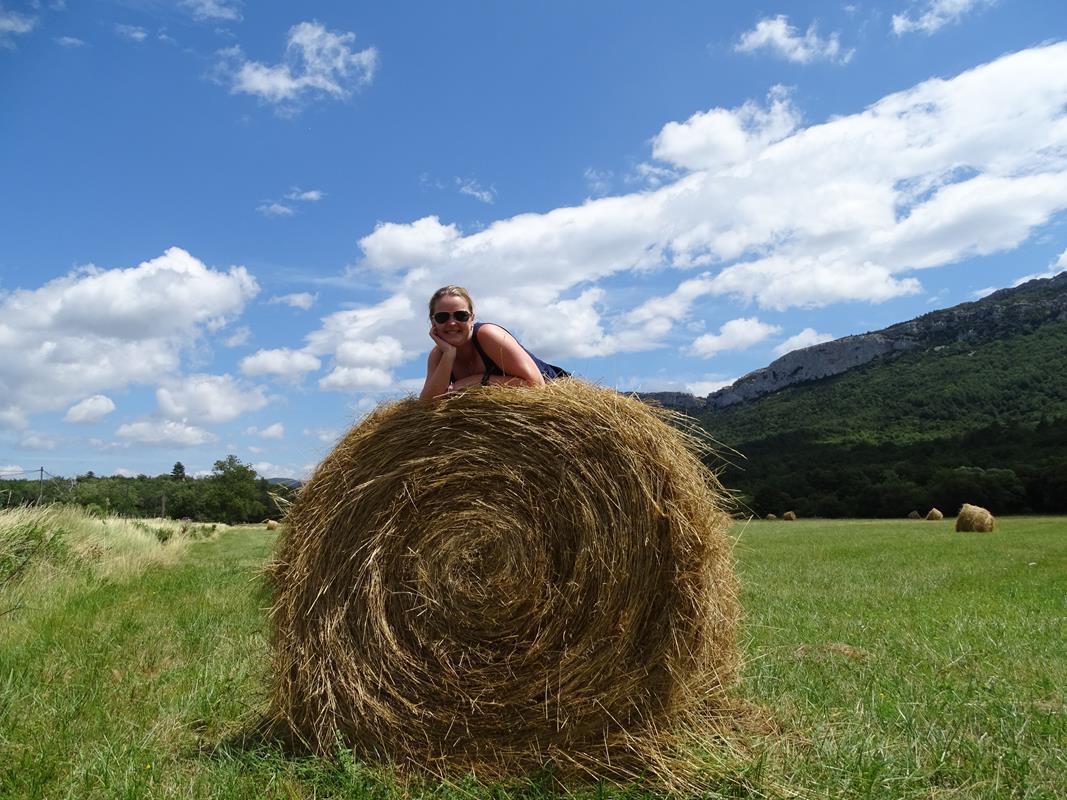 stroballen strobaal ronde balen stro oogst landbouw frankrijk la douce france kataren