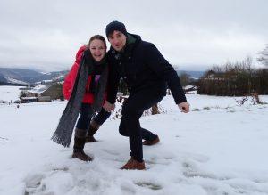 sneeuw stoumont roemenie roemeen winterpret linguapolis