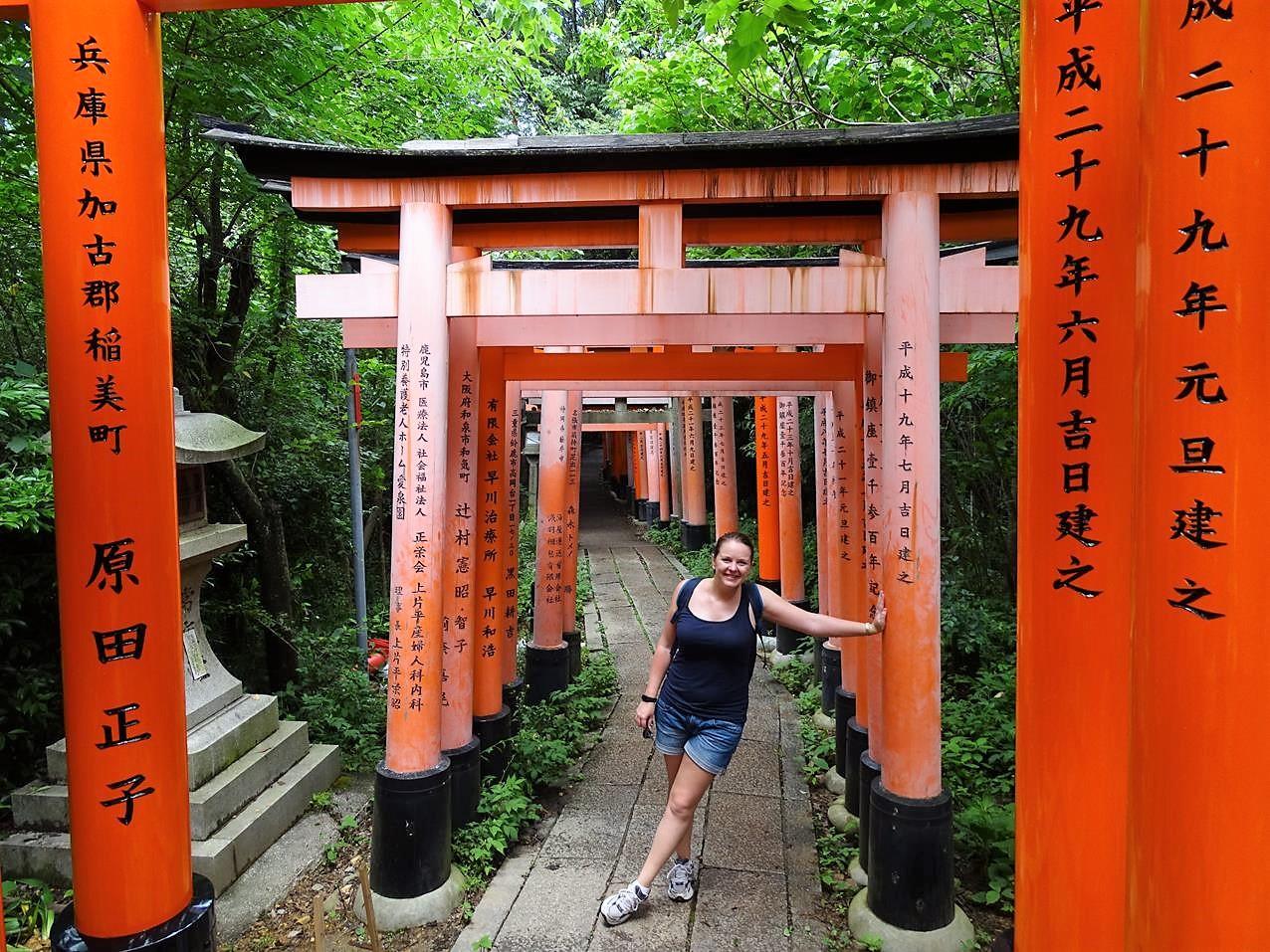 kyoto temple tempel Fushimi inari shrine biketour
