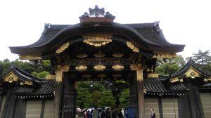Nijo Castle kasteel gate japan kyoto golden ornament