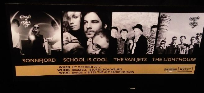 Bands n Bites school is cool sonnfjord the van jets the lighthouse