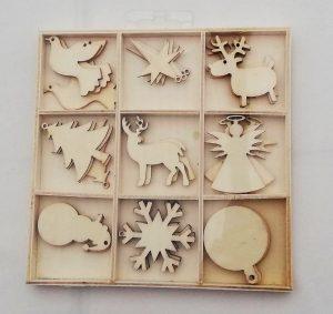flying tiger houten vormpjes kerstkaartjes