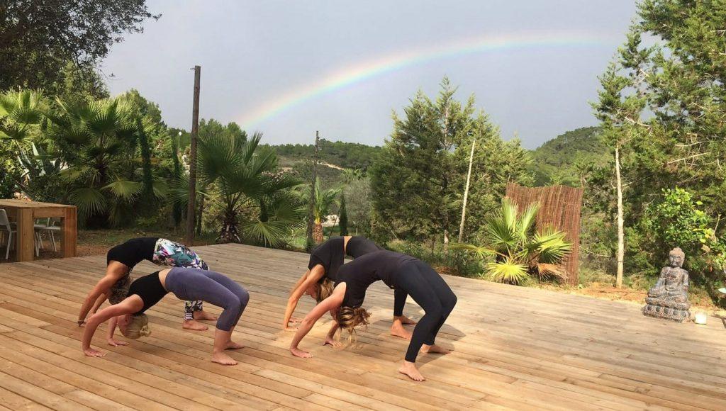 yoga pose brug prashanti yoga retreats