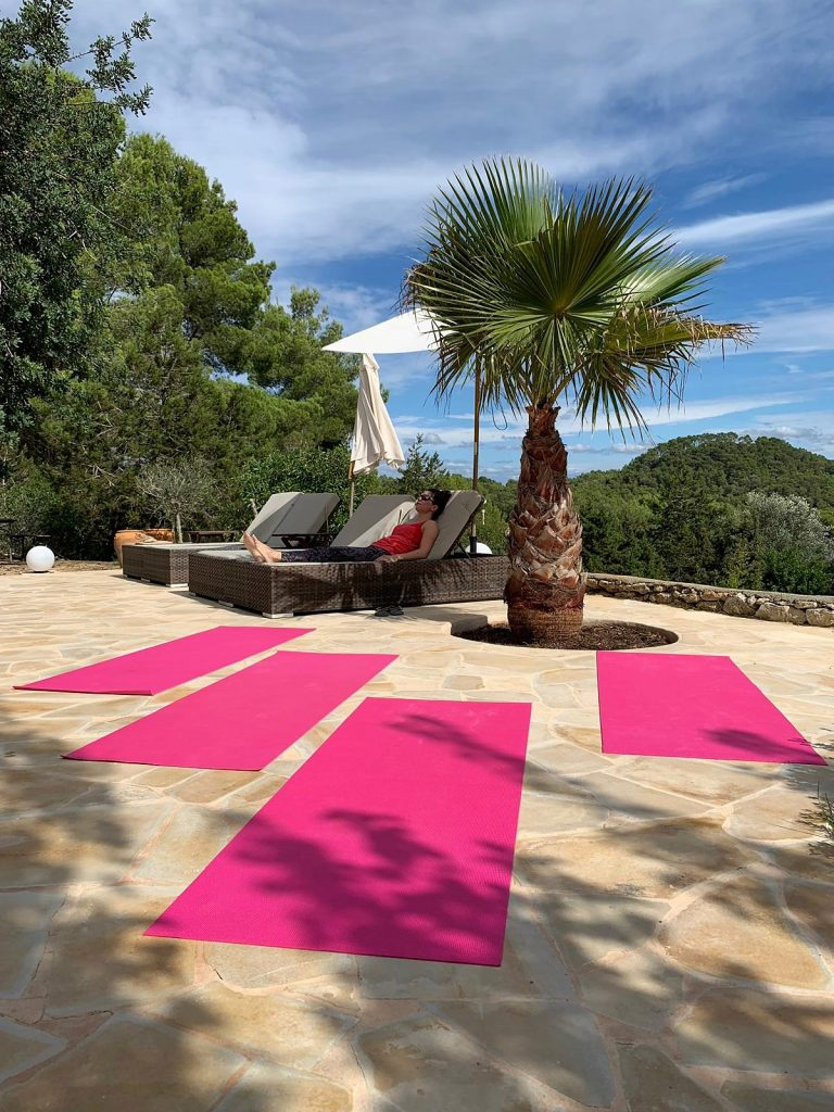 Prashanti retreats yogamatjes palmboom