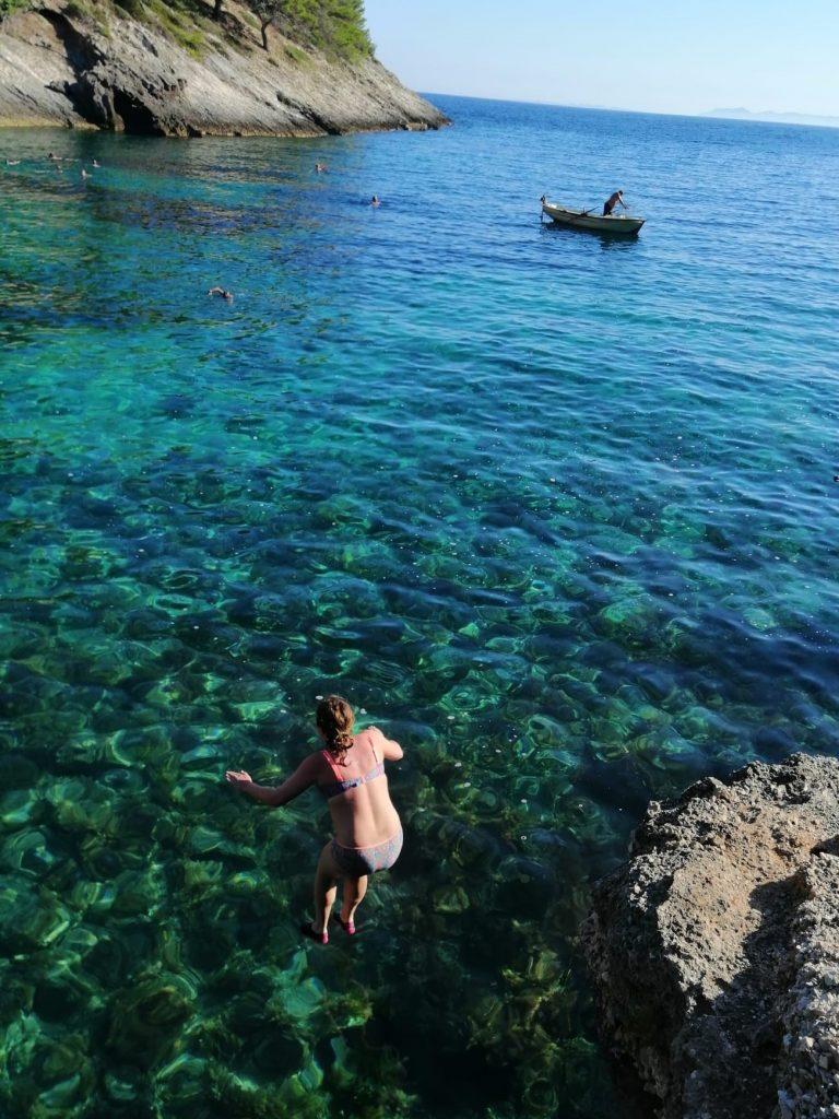 kroatie korcula zwemmen sprong svrine blog