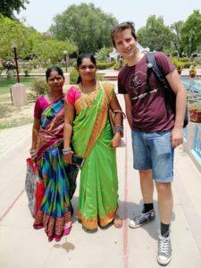 sarnath india selfie met locals