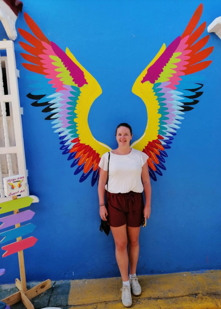 getsemani cartagena vleugels blauwe muur séverine de ryck