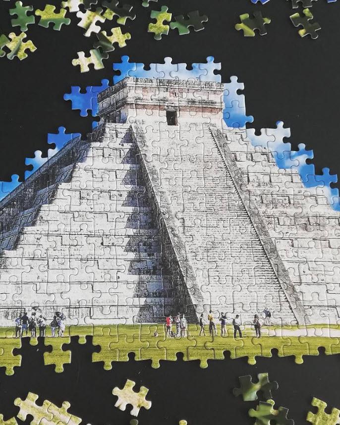 chitzen itza mexico wereldwonder boekenvoordeel puzzel
