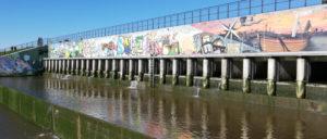 polders kruibeke sigmaplan graffiti