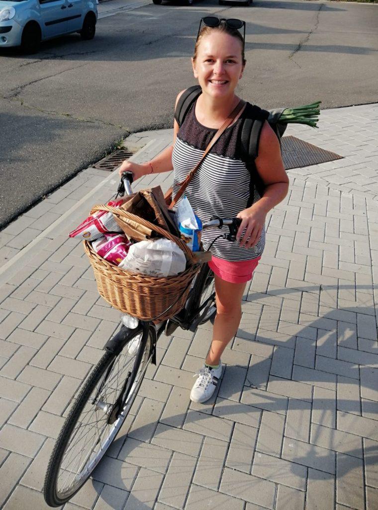 boodschappen met fiets pijpajuin fiets met mandje